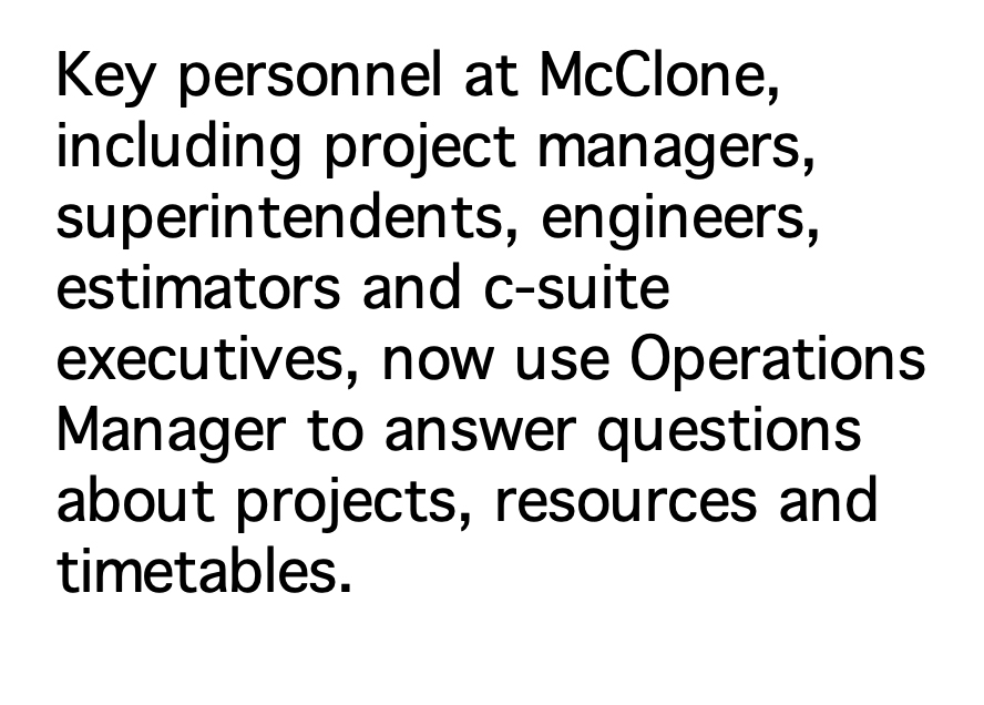 Key personnel uses Operations Manager